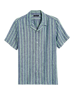Slim-Fit Linen Resort Shirt