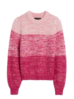 Petite Cropped Ombré Sweater