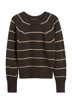 Merino-Blend Dolman-Sleeve Sweater