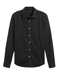 Untucked Slim-Fit Cotton Shirt