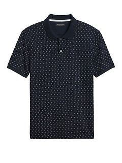 Slim Luxury-Touch Print Polo