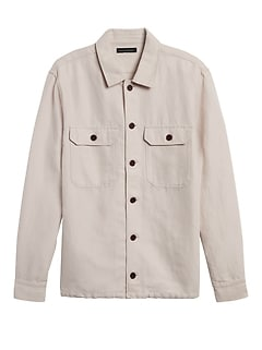 Linen-Cotton Coach's Jacket