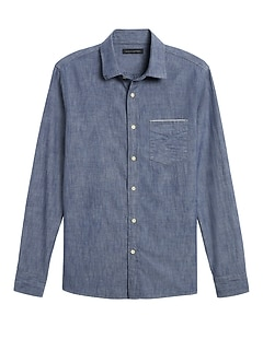 Slim-Fit Selvedge Chambray Shirt