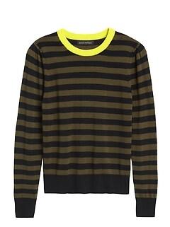 Washable Merino Puff-Sleeve Sweater