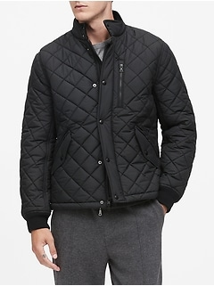 Core Temp Quilted Bomber Jacket