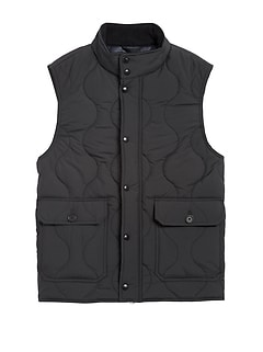 Water-Resistant Quilted Vest