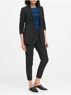 Petite Long & Lean-Fit Performance-Stretch Blazer