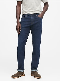 Straight Rapid Movement Denim Jean with COOLMAX® Technology