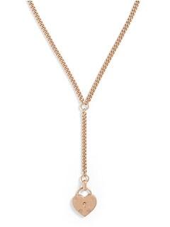 Heart Lock Y-Necklace