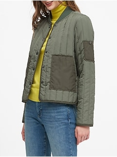 Petite Water-Resistant Quilted Jacket