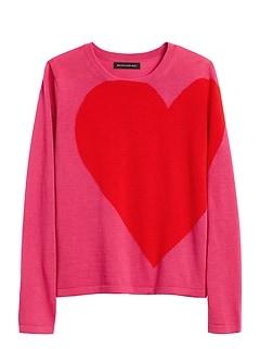 Petite Big Heart Sweater