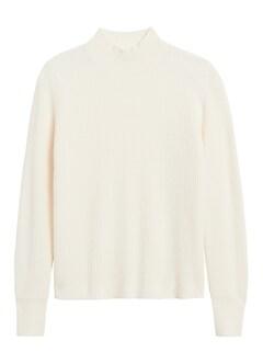 Petite Merino-Blend Waffle-Knit Sweater