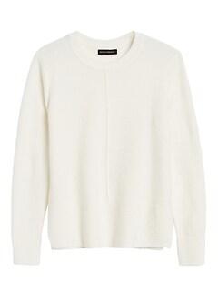 Petite Merino-Blend Center-Seam Sweater