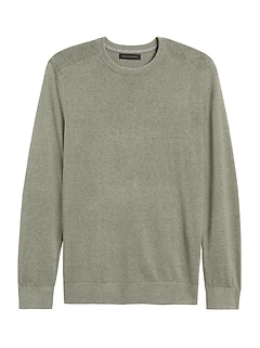 Silk Linen Crew-Neck Sweater