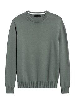 Cotton-Blend Crew-Neck Sweater
