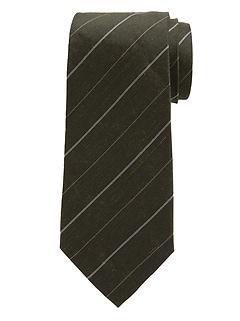 Stripe Silk-Linen Nanotex® Tie