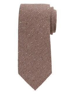 Cravate en mélange de soie mouchetée