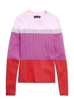 Petite Color-Blocked Sweater Top