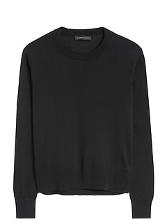 Silk-Cotton Cropped Sweater