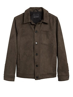 Vegan Suede Shirt Jacket