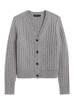 Petite Merino-Blend Cropped Cardigan Sweater