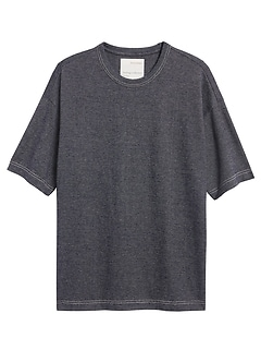 Heritage Cotton-Hemp Boxy T-Shirt