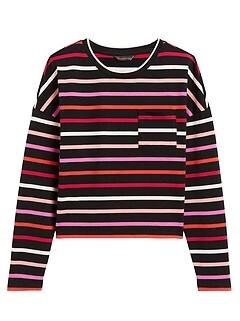 Petite Boxy Stripe T-Shirt