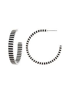Stripe Hoop Earrings