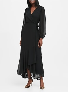 Petite Maxi Wrap Dress