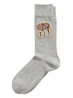 Tiger Emblem Sock