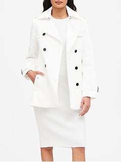 Textured Short Trench Coat