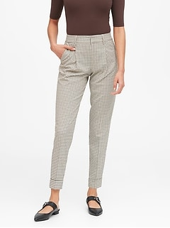 High-Rise Tapered Cropped Pant