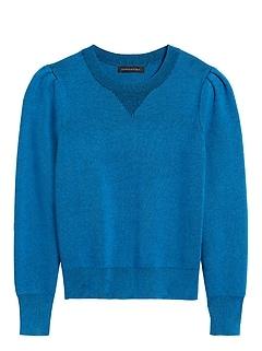 Petite Puff-Sleeve Sweater Top