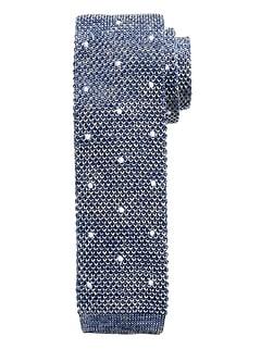 Silk Knit Marled Dot Tie