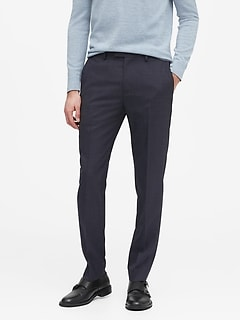 Slim Tapered Smart-Weight Performance Suit Pant with COOLMAX® Technology