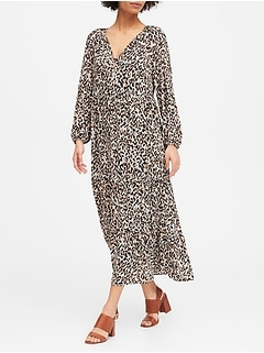 Leopard Tiered Maxi Dress