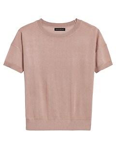 Shimmer Short-Sleeve Sweater