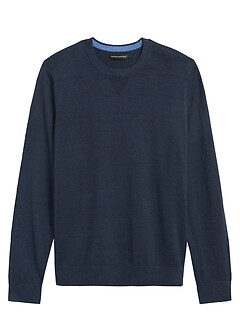 Performance Linen Crew-Neck Sweater