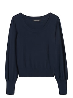 Scoop-Neck Sweater Top