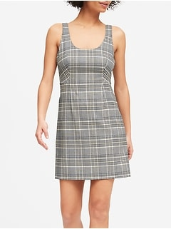 Petite Plaid Mini Dress