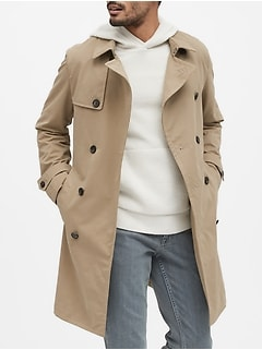 Water-Resistant Trench Coat
