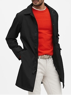 Water-Resistant 3-Layer Mac Jacket