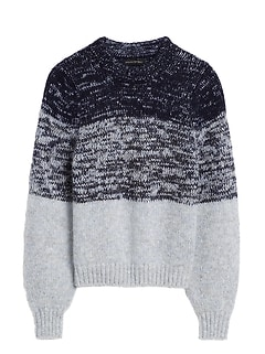 Cropped Ombré Sweater