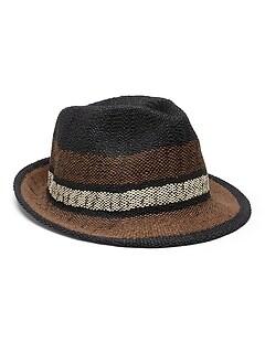 Chapeau mou à rayures