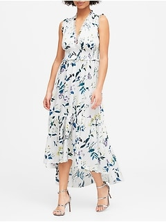 Print Soft Satin Maxi Dress