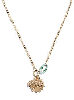 Enamel Link Charm Necklace