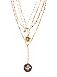 Enamel Layered Y-Necklace