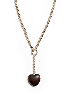 Wood Heart Y-Necklace