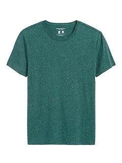 T-shirt ras du cou en coton techno