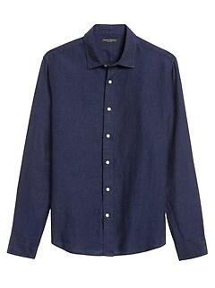 Untucked Standard-Fit Linen Shirt